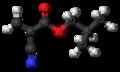 Isobutyl cyanoacrylate 3D ball.png