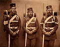 Jabez Hughes after Cundall & Howlett - Heroes of the Crimean War - Sergeant John Geary, Thomas Onslow and Lance Corporal Patrick Carthay of the 95th (Derbyshire) Regiment of Foot.jpg