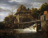 Jacob Isaacksz. van Ruisdael - Two Undershot Watermills with Men Opening a Sluice - WGA20480.jpg