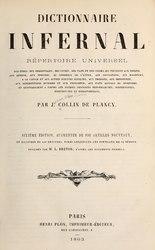 Jacques Collin de Plancy: Dictionnaire infernal