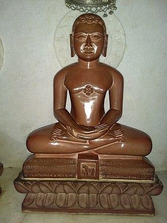 Sambhavanatha - Sambhavanatha statue at Sudarshanoday Teerth Kshetra, Anwa