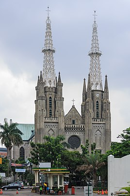 The Jakarta Cathedral, one of the oldest churches in Jakarta