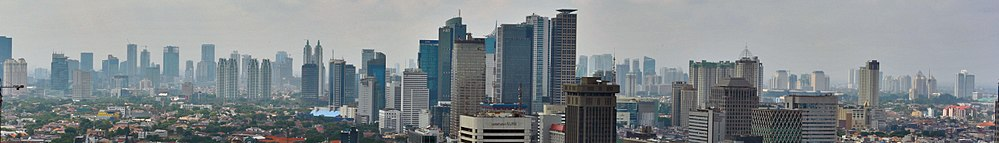Panoramic view of Central Jakarta skyline