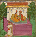 Jalal al-Din Rumi, Maulana - A Shoemaker and the Unfaithful Wife of a Sufi Surprised by her Husband's Unexpected Return Home - Image Detail.jpg