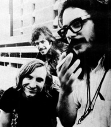 James Gang in 1970; left to right: Joe Walsh, Dale Peters, Jim Fox