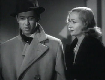 Screenshot of James Stewart and Carole Lombard...