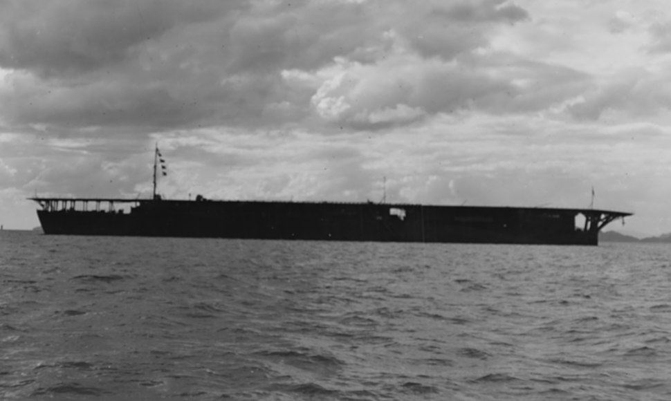 Japanese aircraft carrier Hosho cropped