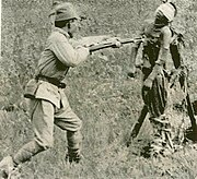 Japanese bayonet practice with dead Chinese near Tianjin