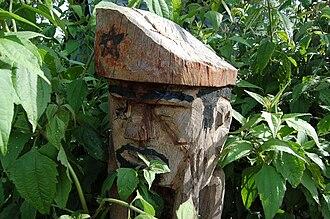 Jarai people - Guardian spirit of a Jarai tomb in Kon Tum Province