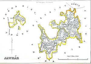 Jawhar State - 1855 map of Jawhar State