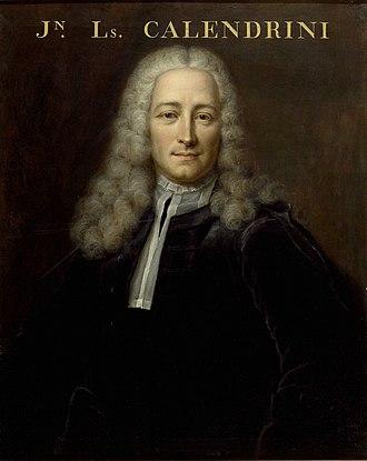 Jean-Louis Calandrini - Jean-Louis Calandrini (1703-1758). Portrait by the Geneva painter Robert Gardelle in 1760.