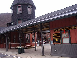 National Register of Historic Places listings in Carbon County, Pennsylvania - Image: Jim Thorpe station