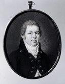 Johan E Berg ? (1787-1857), husar inom Fellingsbro socken, korpral (Anders Gustaf Andersson) - Nationalmuseum - 24413.tif