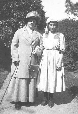 Johanne Agerskov - Johanne Agerskov together with her daughter, Inger Agerskov. Photo from 1922