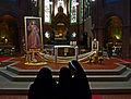 Johanneskirche Freiburg - Nonnen bei der Seligsprechung von Johannes Paulus II.jpg