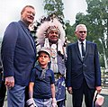 John & Ethan Wayne with Walter Knott in 1969 1.jpg