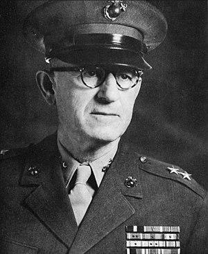 John T. Walker (USMC) - Walker as Major general, USMC