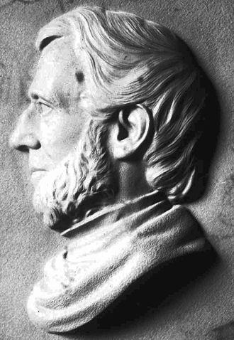 John Torrey - Bas relief portrait of John Torrey