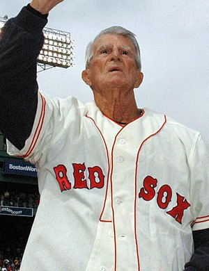 Johnny Pesky at a recent Red Sox ceremony.
