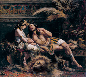 Samson - Samson and Delilah (1887) by Jose Etxenagusia