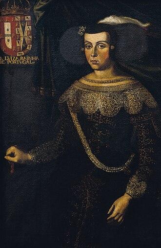 Duchess of Braganza - Image: José de Avelar Rebelo Retrato da Rainha D.Luisa de Gusmão