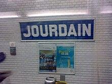 Jourdain Metro De Paris Wikipedia