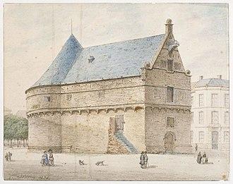 Jozef Linnig - View of the Blauwe Toren