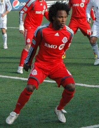 Julian de Guzman - De Guzman playing for Toronto FC in 2010