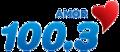 KBRG Amor100.3 logo.png