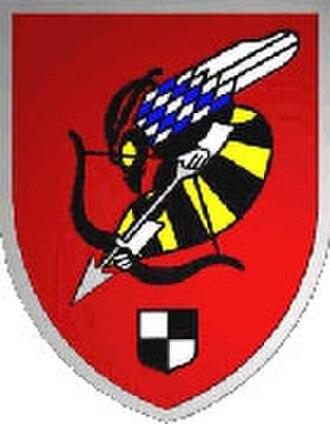 """1st Airmobile Brigade (Bundeswehr) -  Kampfhubschrauberregiment 26 """"Franken"""" formation sign"""