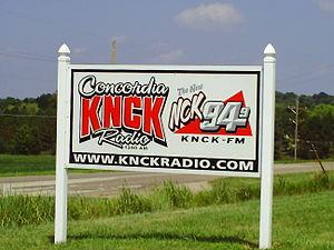 KNCK (AM) - KNCK Road Sign