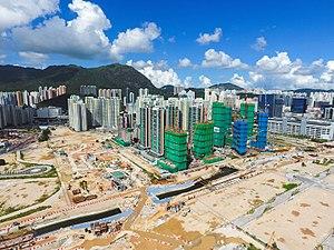 Public housing estates in the Kai Tak development area - Kai Tak development area in 2017