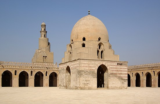 Ibn Tulun Mosque                              , courtyard and minaret