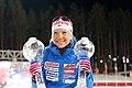 Kaisa Mäkäräinen (FIN) with Crystal Globes IBU 2018 (42396057730).jpg