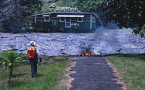Kalapana, Hawaii - One of the more than 100 houses that were destroyed by the lava flow in 1990.