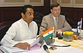 Kamal Nath along with the Minister of Foreign Trade & Development, Finland, Dr. Paavo Väyrynen addressing at a joint press conference on the outcome of their bilateral meeting, in New Delhi on October 23, 2007.jpg
