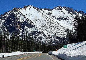 Washington State Route 20 - Kangaroo Ridge is due east of Washington Pass