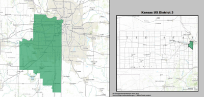 Kansas's 3rd congressional district - since January 3, 2013.