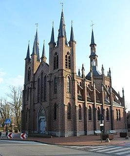 Melsele Town in Flemish Region
