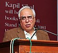 Kapil Sibal addressing at the release of his Book of Poem 'My World Within', at World Book Fair, in New Delhi on March 02, 2012.jpg