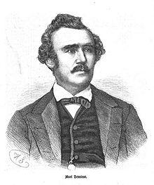 Der Schauspieler Carl Devrient. Zeichnung von Hermann Scherenberg. (Quelle: Wikimedia)