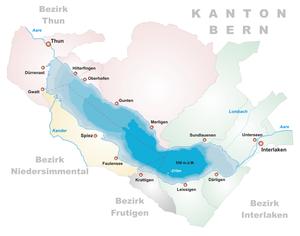 Karte Thunersee