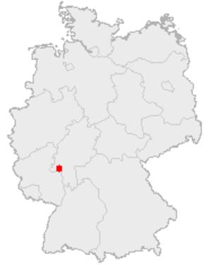 Biebrich (Wiesbaden) - Image: Karte Wiesbaden in Deutschland