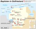 Karte der Baptistengemeinden in Ostfriesland.png