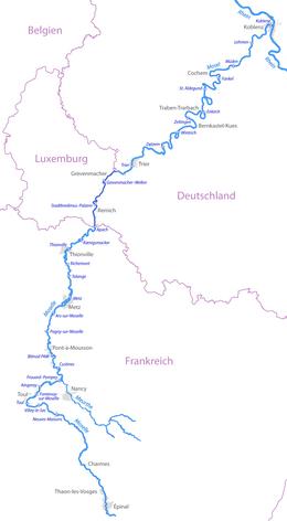 mosel fluss karte Liste der Moselstaustufen – Wikipedia mosel fluss karte