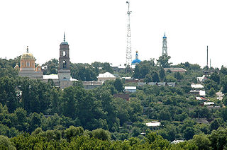 Kashira Town in Moscow Oblast, Russia