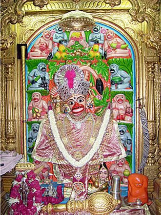 Exorcist - The image of Hanuman at the Hanuman temple in Sarangpur is said to be so powerful that a mere look at it by people affected by evil spirits, drives the evil spirits out of the people affected