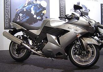Kawasaki Ninja ZX-14 - Image: Kawasaki ZZR1400 2007TMCS