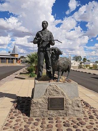 Keetmanshoop - A monument in Keetmanshoop, Namibia