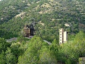 Magdalena, New Mexico - The old Kelly Mine headframe south of Magdalena (2005 photo)